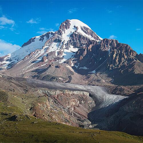 Высота Казбека и Эльбруса