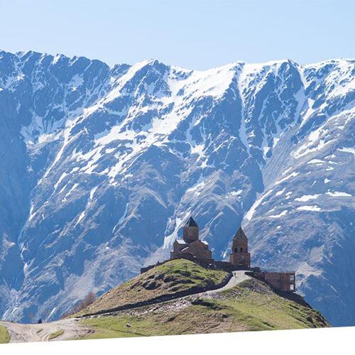 Казбек высочайшая вершина Кавказа