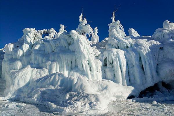 снег Байкал